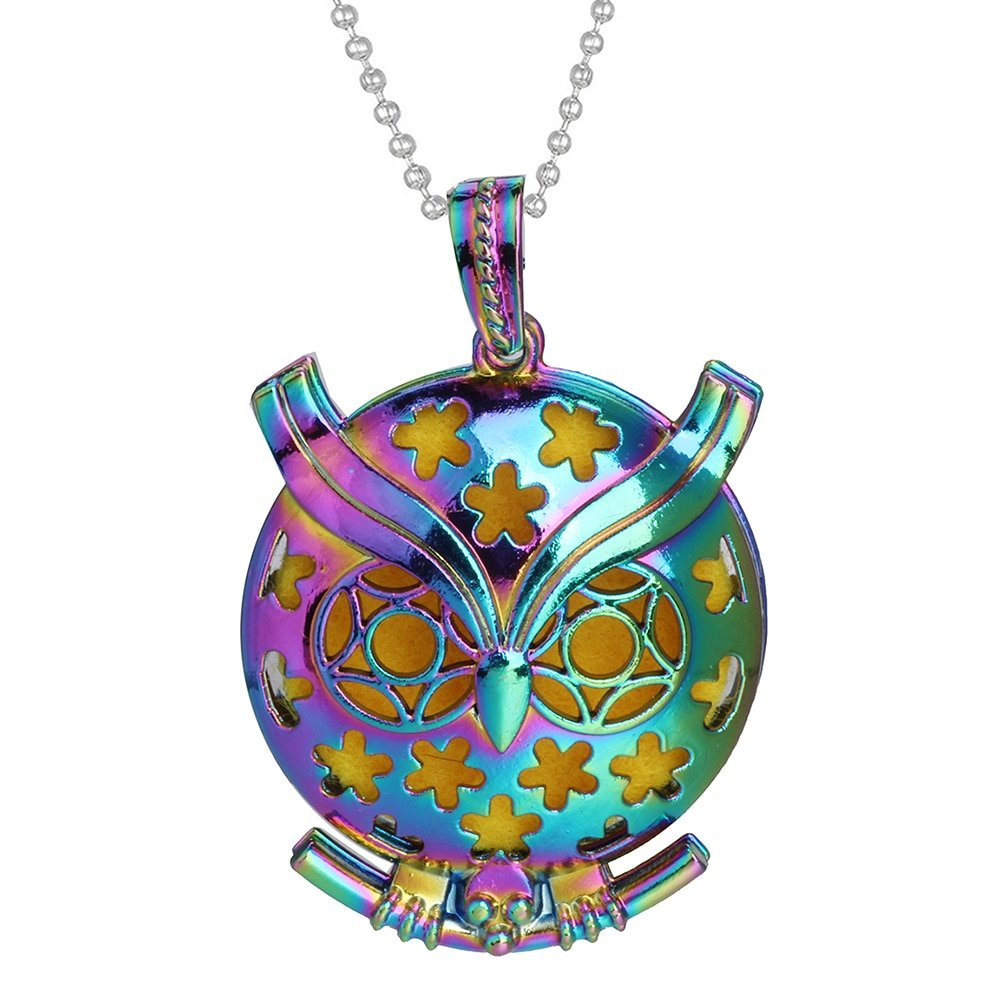 New Aroma Diffuser Necklace Open Antique Vintage Colorful Lockets Pendant Perfume Essential Oil Aromatherapy Locket Necklace