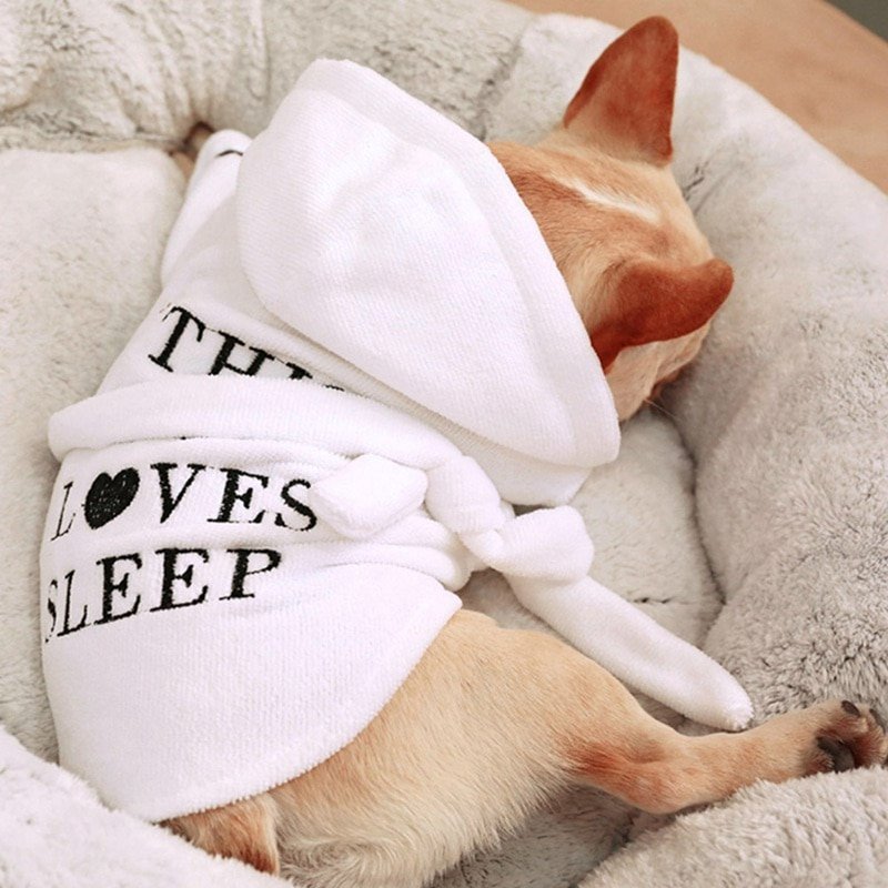 Pet Dog Pajamas Cat Dog Bathrob Sleeping Clothes Indoor Soft Pet Bath Super Absorbent Drying Towel Clothes For Puppy Dogs Cats