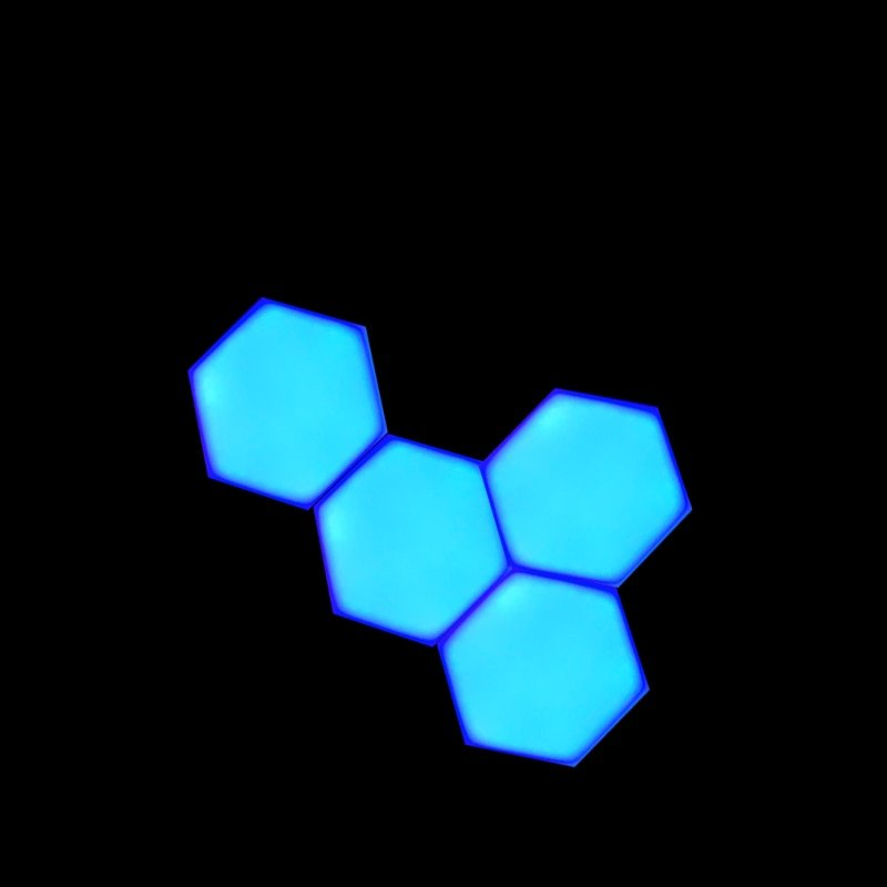 Colorful LED Honeycomb Quantum Hexagon Wall Lamp With Touch Sensitive For Bedroom Living Room Stair Loft DIY Decor Night Light