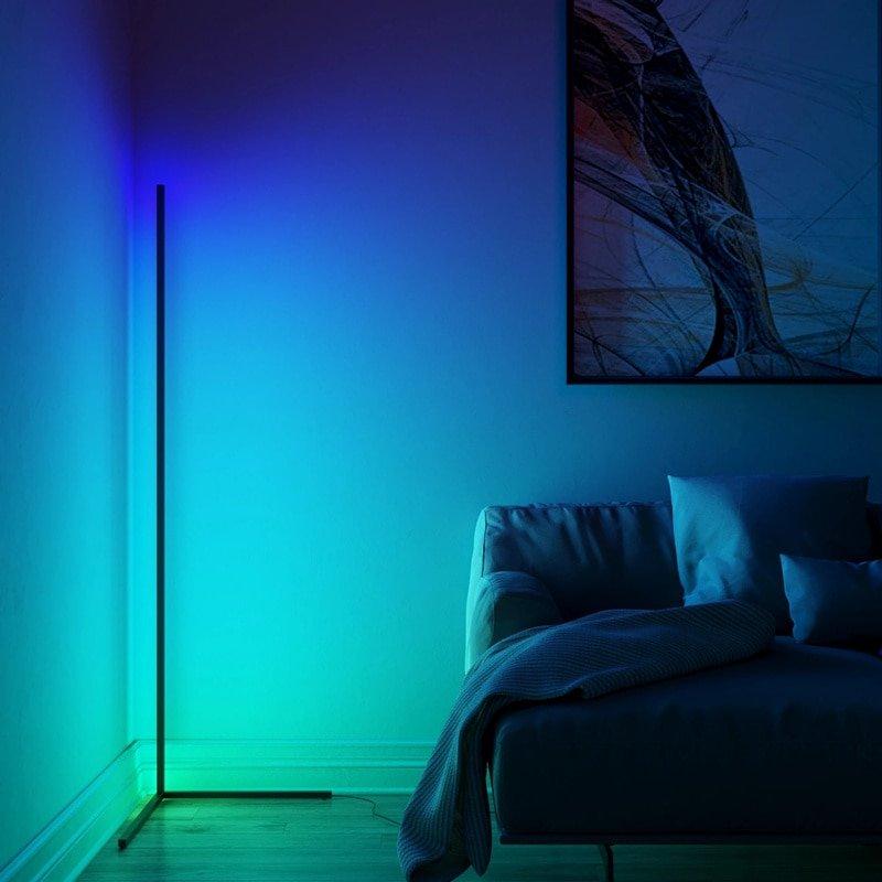 Dimming Black White Floor Lamp Modern RGB Remote LED Floor Lamps Standing Lamp simple corner standing Lamp corner light dropship
