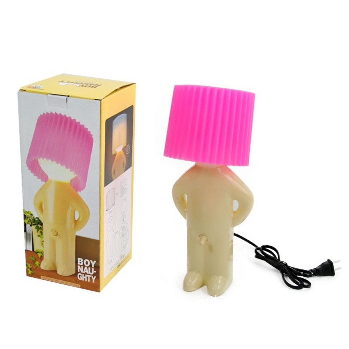 Naughty Boy Mr.P A Little Shy Man Creative Table Lamp Small Night Lights for Home Decoration Birthday Gift Halloween Christmas