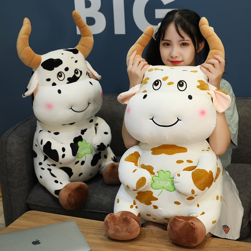 1pc 30/35/50/80cm Kawaii Cattle Plush Toy Cute Simulation Zodiac Cow Appease Doll Creative Pillow Kids Girl Baby Birthday Gift
