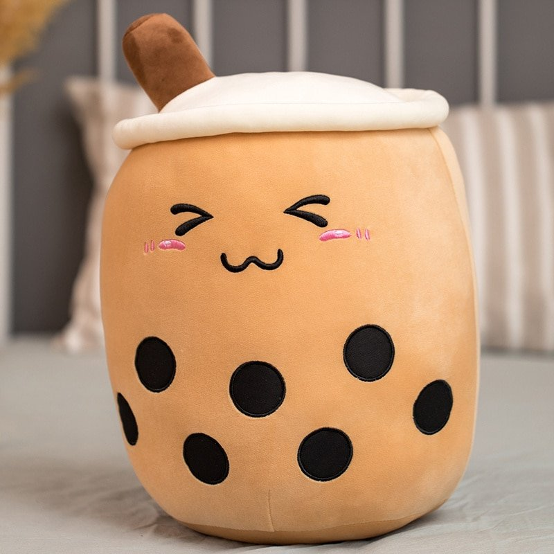 real-life bubble tea cup plush toy pillow stuffed food milk tea soft doll milk tea cup pillow cushion kids toys birthday gift
