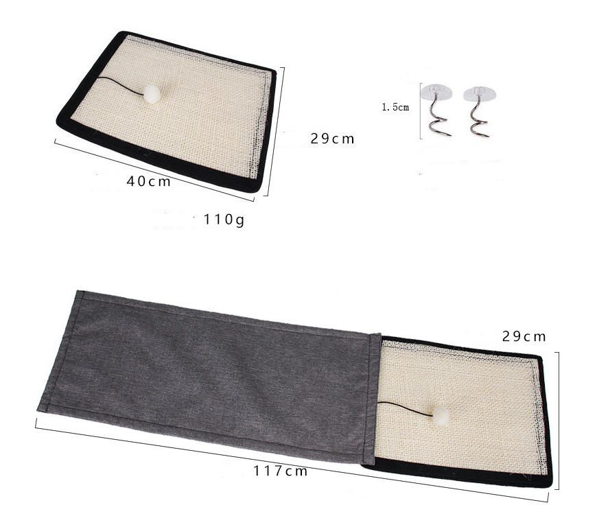 Cat scratch board sisal pad table sofa protection mat